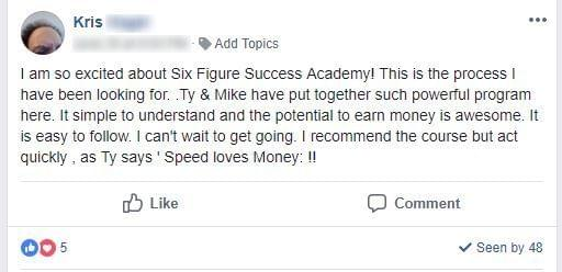 Six Figure Success Academy  Support International